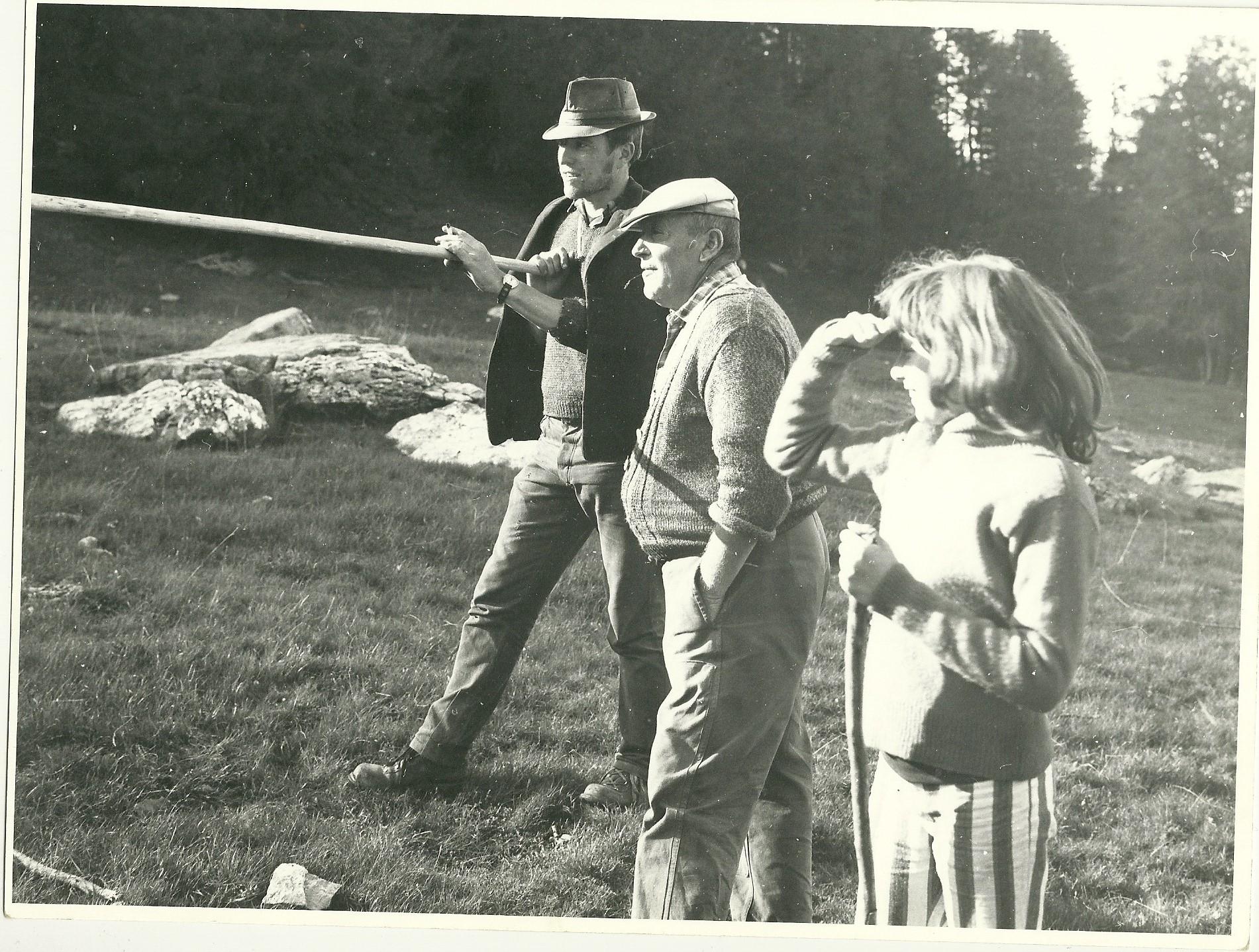 1976 Le berger des vaches avec Augustin Muraille. (Ph.J.P.Vincent)