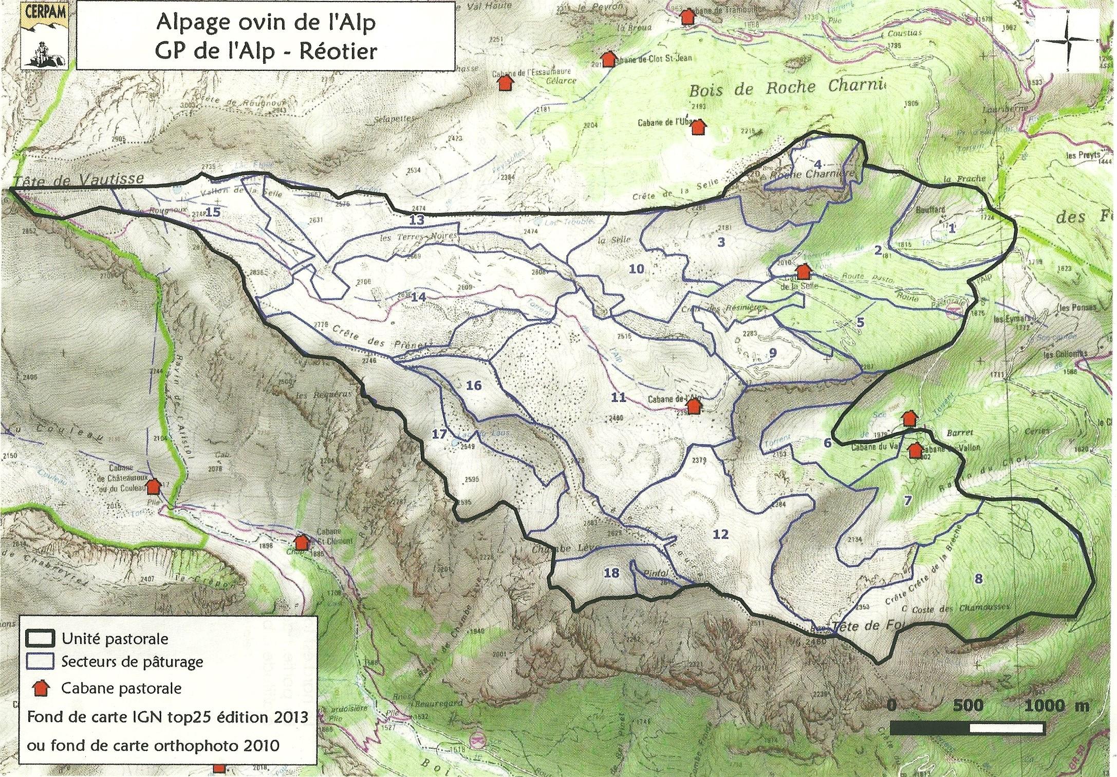 Plan alpage de l'Alp ovin