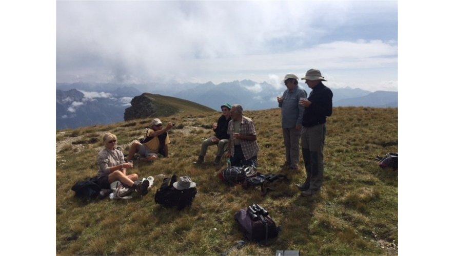 Les participants à la sortie ornithologique à l'Alp.