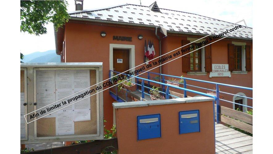 Fermeture mairie COVID 19