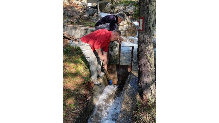 Ouverture de la vanne au pont du Villard