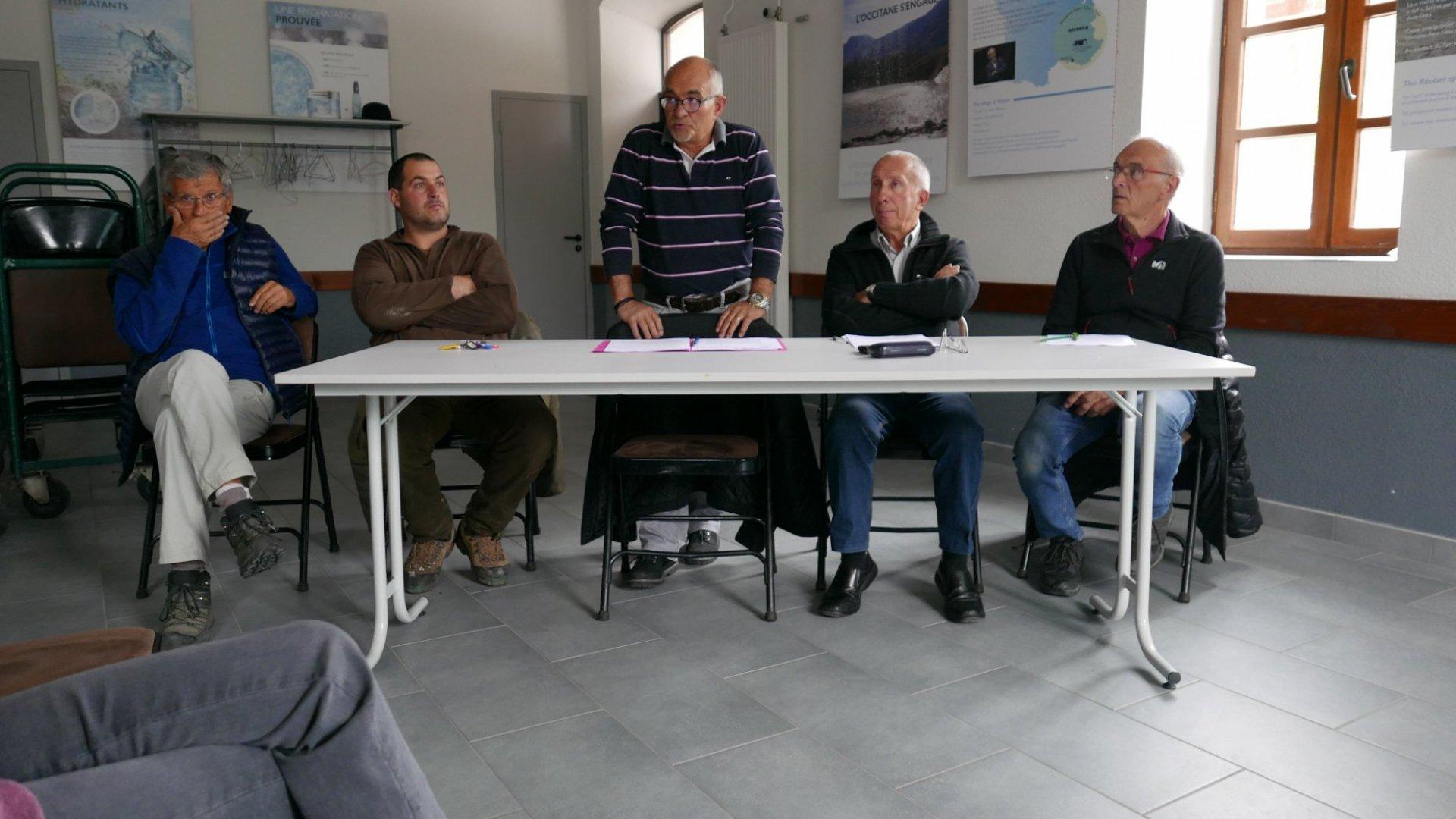 Réunion publique sur lethème du patrimoine hydraulique de la commune