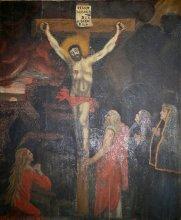 Christ en croix de F. Brun, chapelle des Casses, Réotier